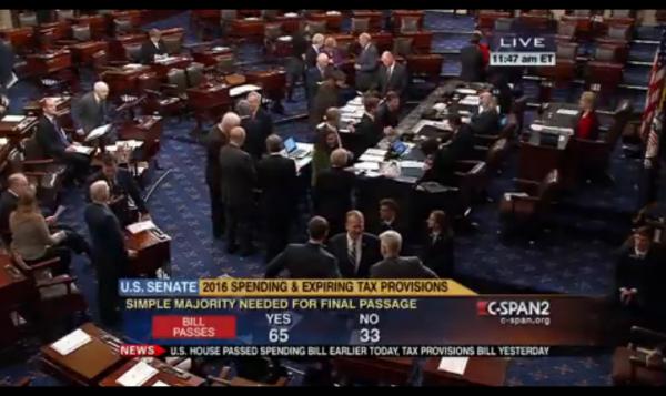 Omnibus Bill 12-18-2015 Senate vote