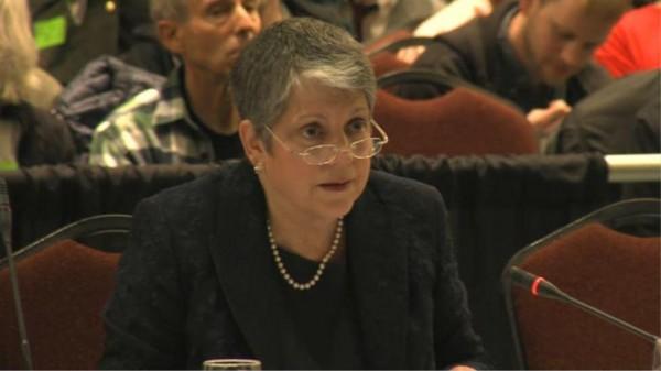 [UC President Janet Napolitano at Regents Meeting]