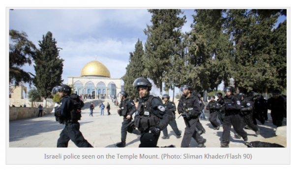 Israeli Police on Temple Mount, Passover
