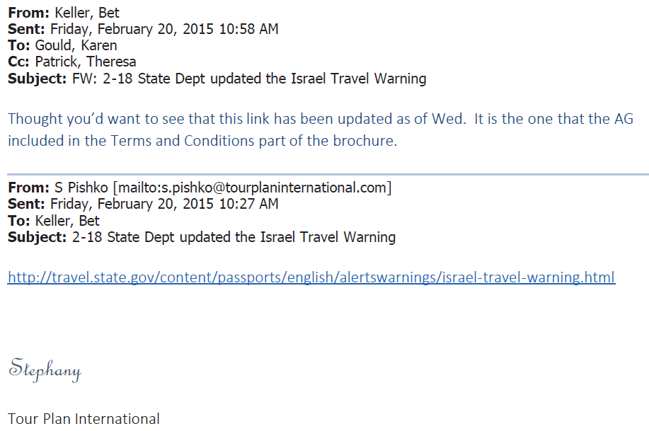 VSB Email 2-20-2015 1027 Tour International Update State Dept Warning