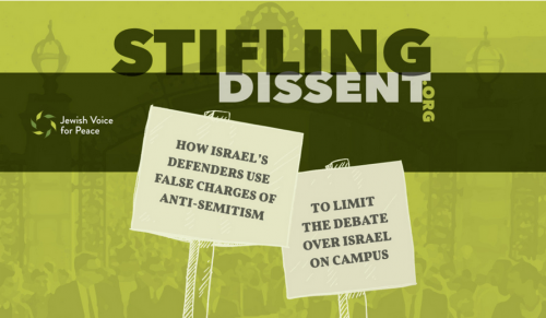 Jewish Voice for Peace Stifling Dissent Cover