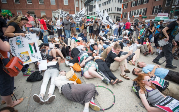 Die-in | Boston | with Students for Justice in Palestine chapter participation | July 14, 2014