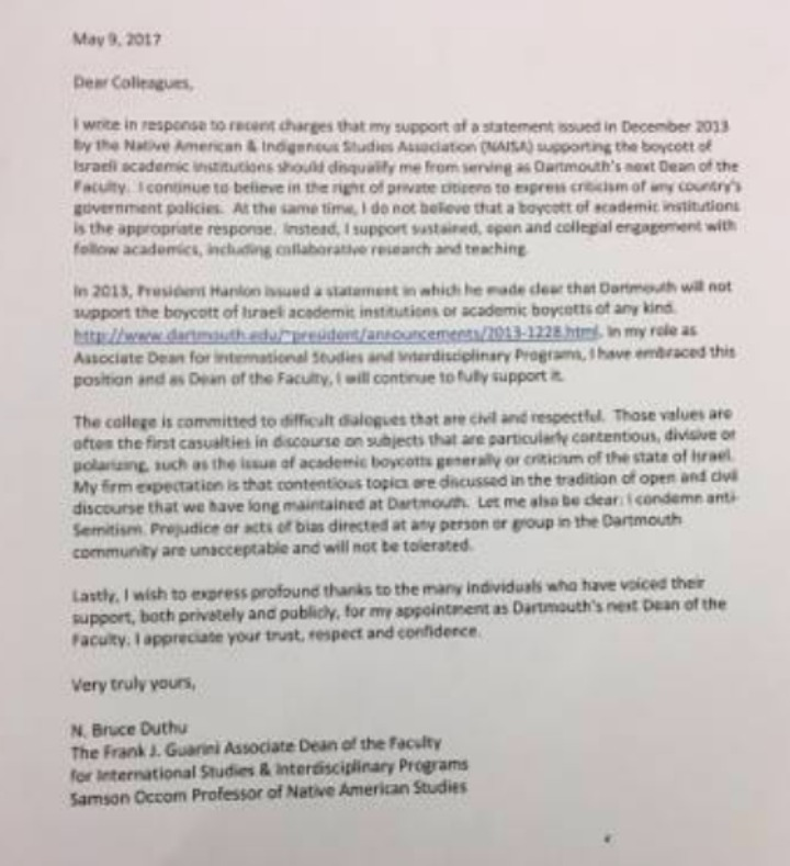 https://www.algemeiner.com/2017/05/09/dartmouth-dean-with-bds-ties-i-believe-in-right-to-criticize-any-countrys-government-but-i-dont-support-academic-boycotts/