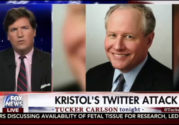 tucker carlson slams bill kristol over twitter smear