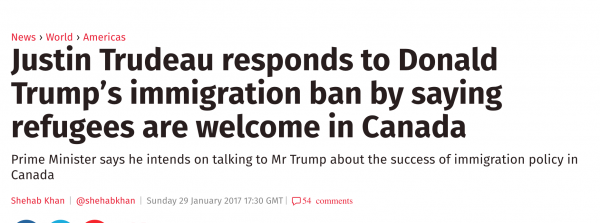 http://www.independent.co.uk/news/world/americas/donald-trump-justin-trudeau-canada-immigration-ban-muslim-countries-a7552186.html