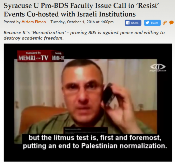 https://legalinsurrection.com/2016/10/syracuse-u-pro-bds-faculty-issue-call-to-resist-events-co-hosted-with-israeli-institutions/