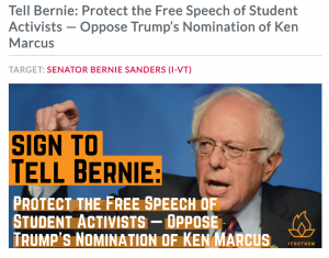 https://actionnetwork.org/petitions/tell-bernie-protect-the-civil-liberties-of-student-activists-oppose-trumps-nomination-of-ken-marcus