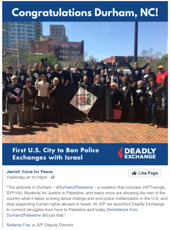 Update Durham Nc Pro Israel Groups Organize Against City Council