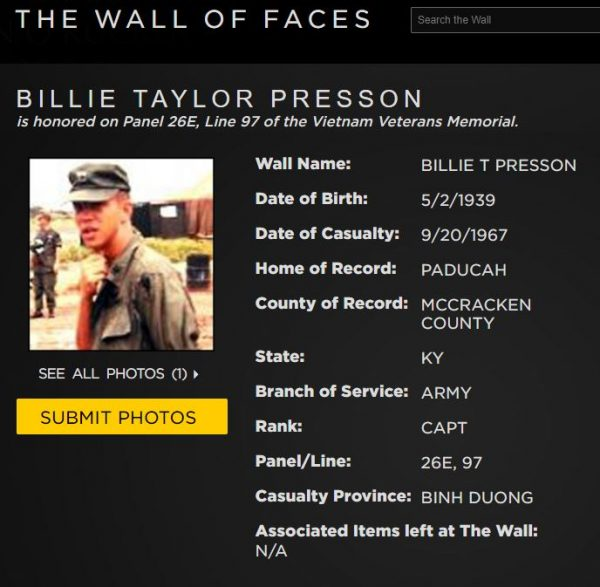 http://www.vvmf.org/Wall-of-Faces/41615/BILLIE-T-PRESSON