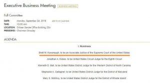 http://jamiedupree.blog.ajc.com/2018/09/21/at-impasse-over-testimony-by-accuser-gop-sets-monday-panel-vote-on-kavanaugh/