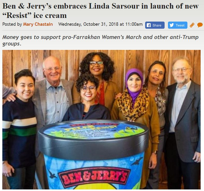 https://legalinsurrection.com/2018/10/ben-jerrys-embraces-linda-sarsour-in-launch-of-new-resist-ice-cream/