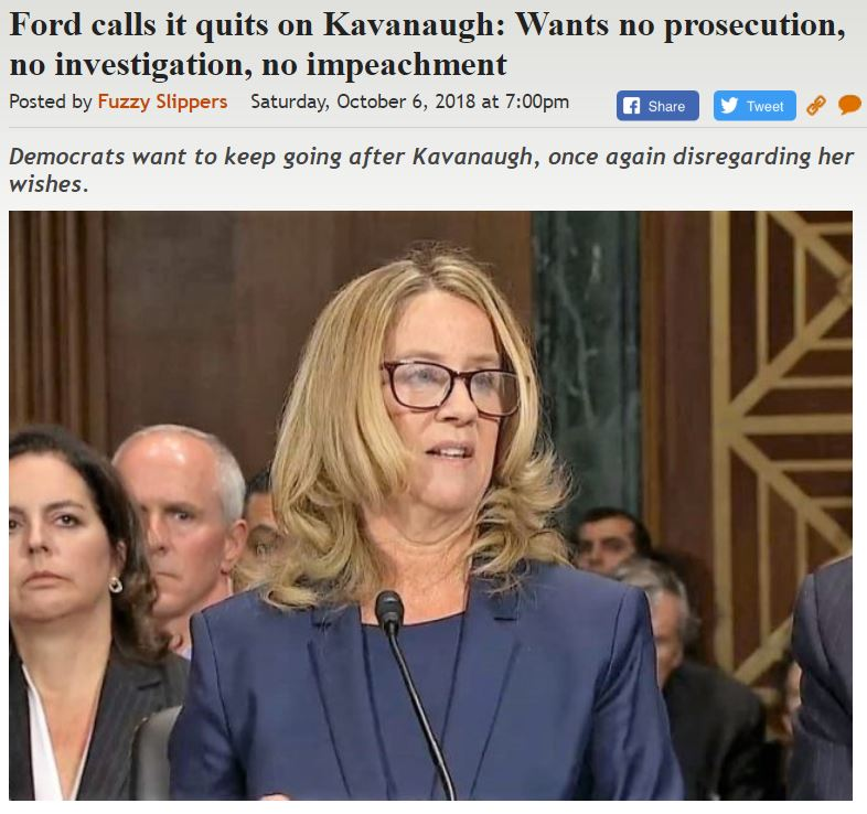 https://legalinsurrection.com/2018/10/ford-calls-it-quits-on-kavanaugh-wants-no-prosecution-no-investigation-no-impeachment/