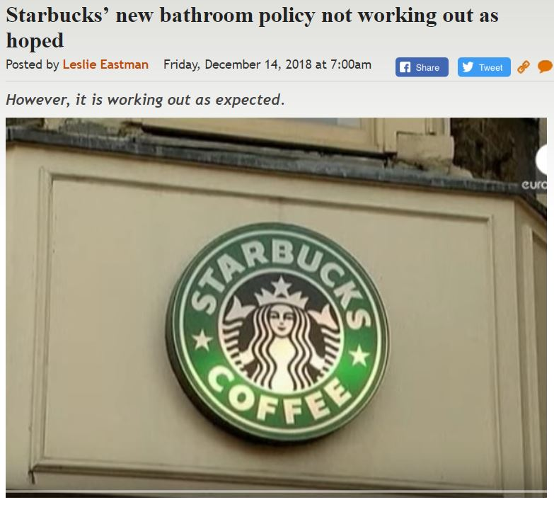 https://legalinsurrection.com/2018/12/starbucks-new-bathroom-policy-not-working-out-as-hoped/