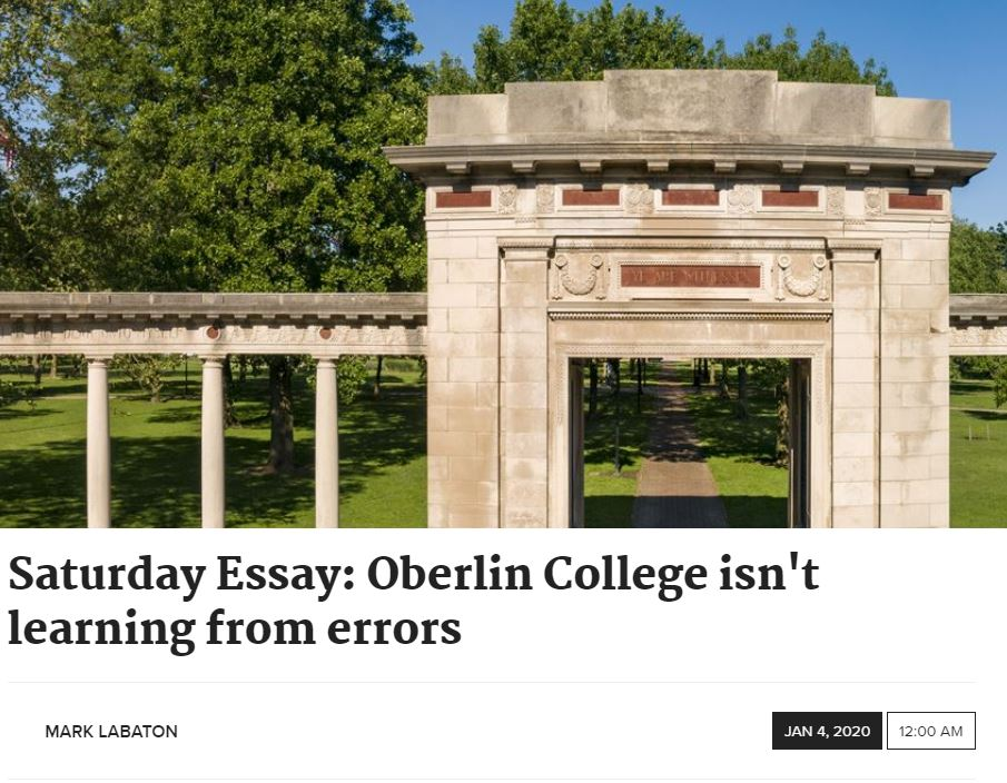 https://www.toledoblade.com/opinion/letters-to-the-editor/2020/01/04/oberlin-college-student-memorial-installation-anti-semitic-commentary/stories/20200103016