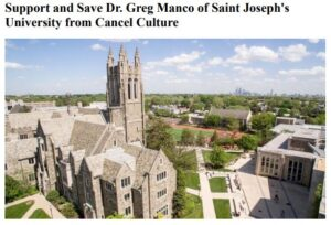 https://www.change.org/p/saint-joseph-s-university-support-and-save-dr-greg-manco-of-saint-joseph-s-university-from-cancel-culture?
