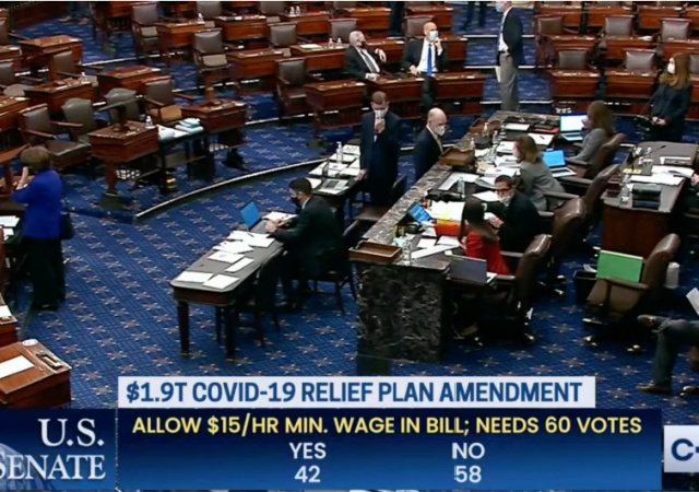 https://www.c-span.org/video/?509591-1/senate-votes-minimum-wage-amendment-19-trillion-covid-19-relief-bill&vod